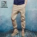 Hombres harén pantalones joggers pantalones de chándal de algodón de alta calidad de Hip Hop danza pantalones masculinos 100% Algodón de verano pantalones casuales para hombre