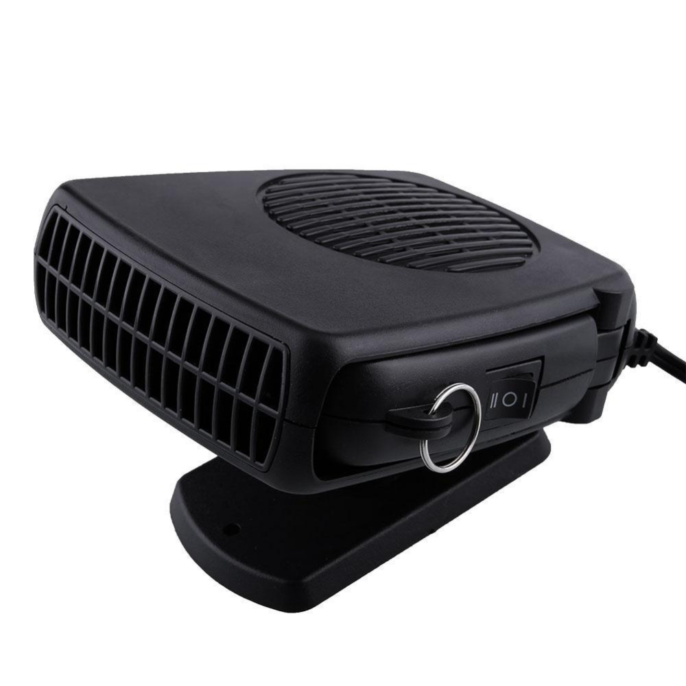 Portable Auto Car Vehicle Electric Heating Fan Heated Windshield Air Conditioning Defroster Demister 12V 200W Black