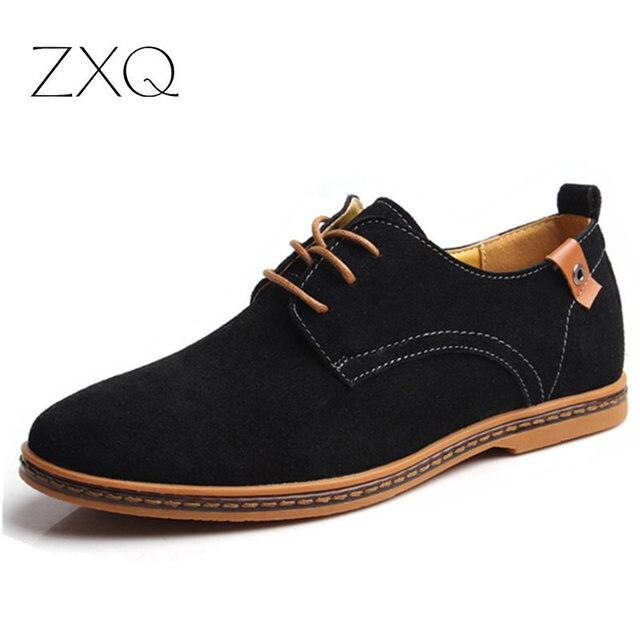 Мужская Обувь Плюс Размер 38-48 Классические Новый Моды для Мужчин Натуральной Кожи низкий Топ Плоские Оксфорд Обувь Для Мужчин Zapatos Мужская Обувь Повседневная