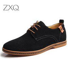 Men Shoes Plus Size 38-48 Classical New Fashion Men Cowhide Leather Low Top Flat Oxford Shoes For Male Zapatos Mens Shoes Casual