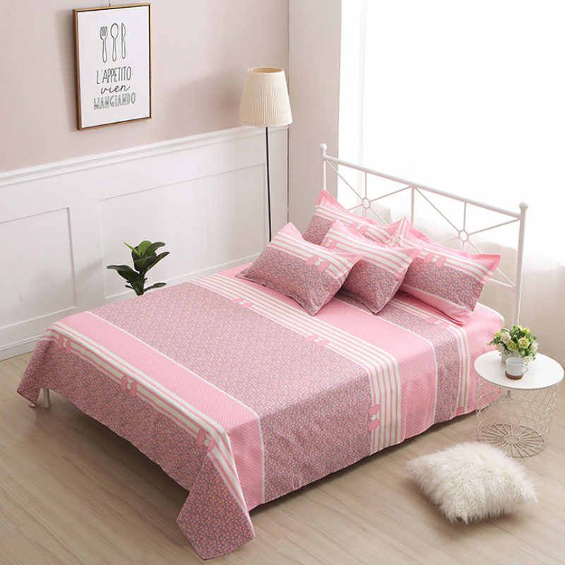 2019 Hot Selling stripe Flat Sheet queen King Size  Bed Sheet Romantic Bedclothes Soft Bed Linens Four Seasons bed Cover