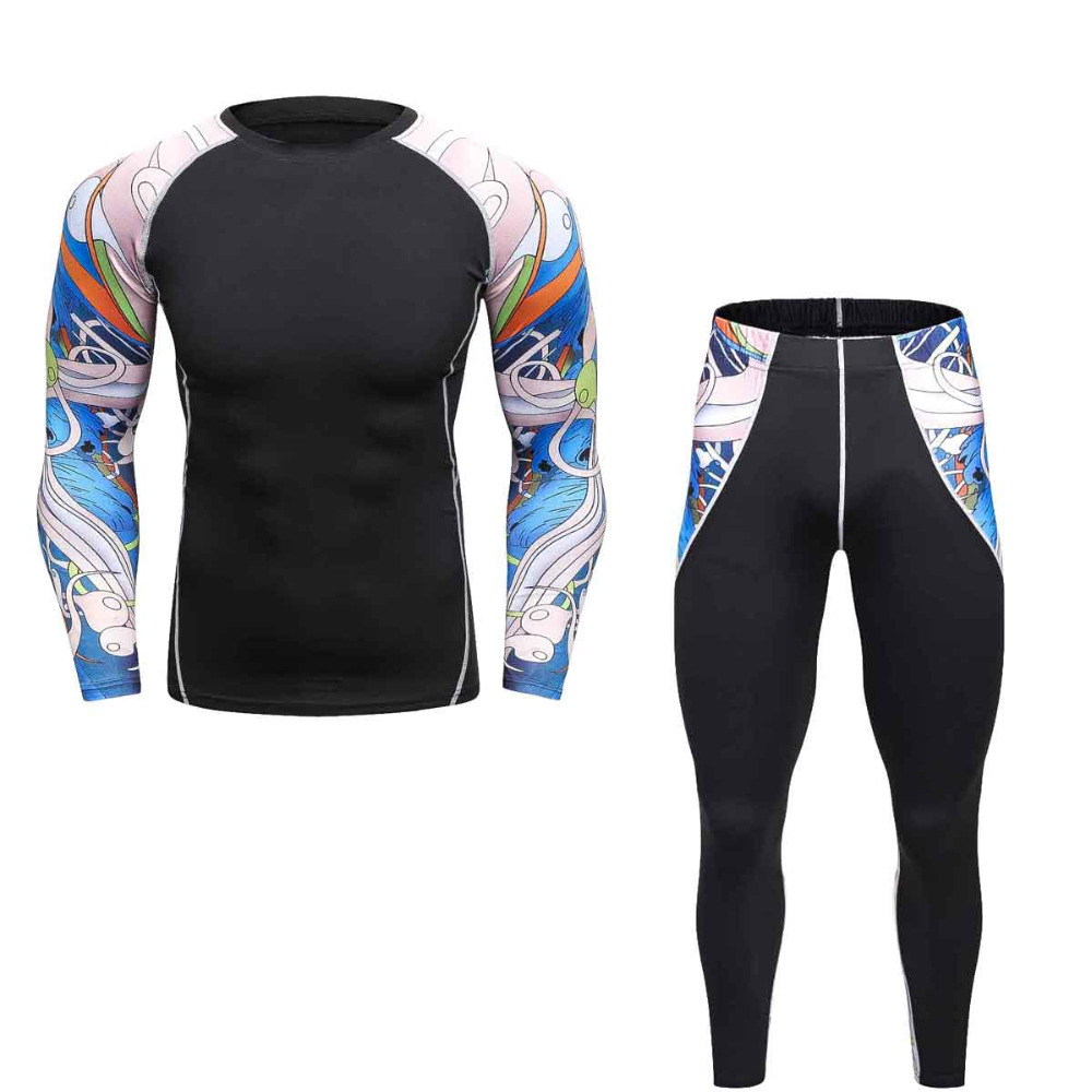 2017 New Compression Tights Set Quick Dry Suit PRO Sportswear Fitness Long Sleeve T font b