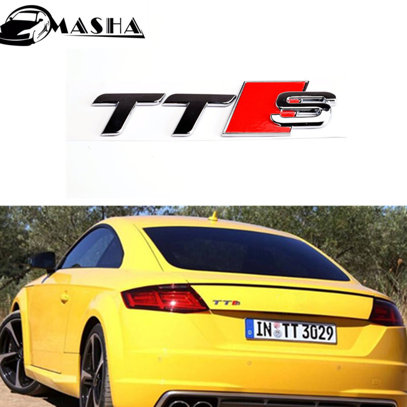 Hot 3D Auto Car Chrome ABS TTS Emblem Badge Styling Sticker Fit for Audi TT quattro RS TDI Roadster Coupe Car styling audi coupe quattro купить витебск