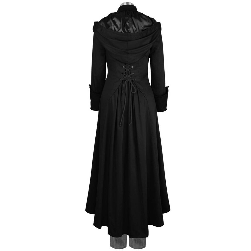 Mujer Capucha Uniforme Abrigo Medieval Con Mujeres 4xl Retro Abrigos WBqqnE0wX