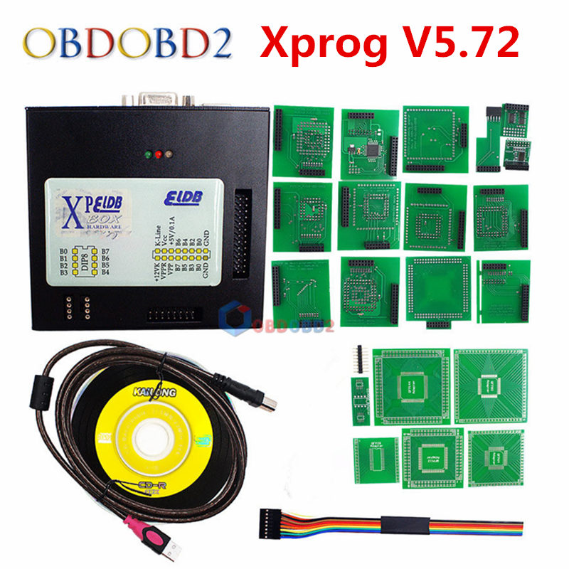 где купить Newest XPROG V5.72 X-prog 5.74 ECU Programmer X PROG M 5.75 Full Adapter Without USB Dongle X-PROG M V5.72 Box ECU Programmer по лучшей цене