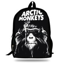 New Arctic Monkeys Rock Band Printing Backpack Travel Softback School Bag For Teenage Boys/Girls Bagpack Set