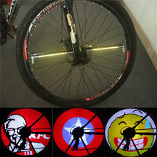 New YQ8003 DIY Bicycle Wheel Light Programmable LED Double Sided Display Image Night Cycling Accessories