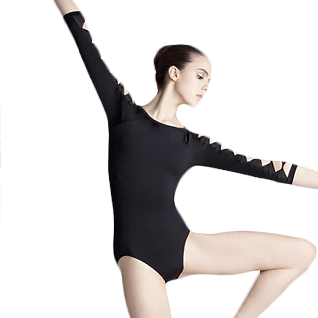 e93baa5bb New Arrival Ballet Dance Leotard For Girls Cotton Black Color Long ...