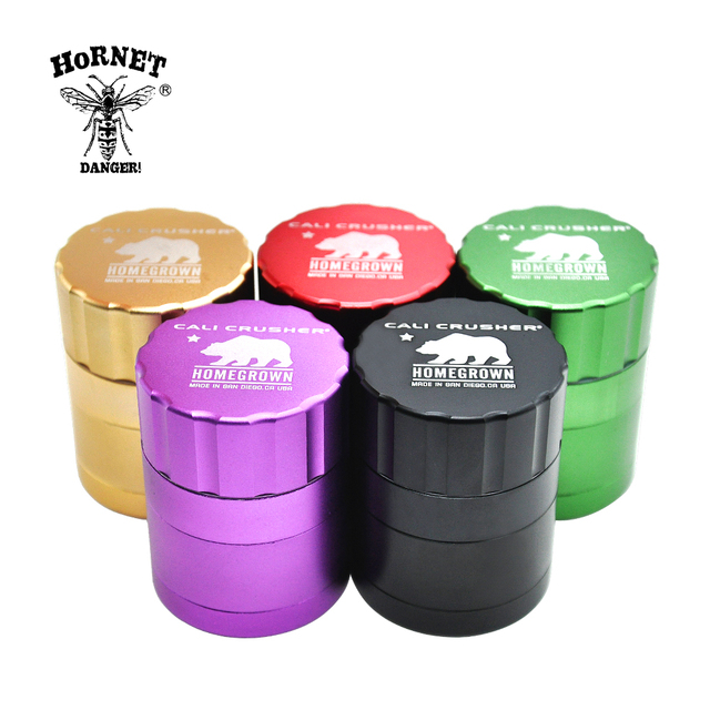 1 X High Quality New Aluminum grinder Dia. 42MM 4 Parts Tobacco gridner Crusher Herb/Spice Grinder with gift box
