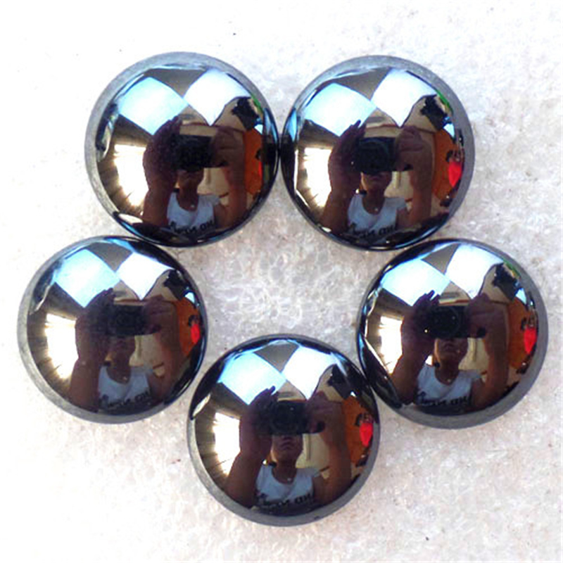 (5 pieces/lot) Wholesale Natural Hematite Round CAB CABOCHON 16x5mm Free Shipping Fashion Jewelry Z4815