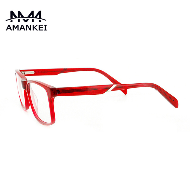 PC Vintage Clear Glasses Transparent Red Acetate Optical Glasses ...