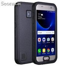 Funda impermeable para Samsung Galaxy S7 Edge S7, carcasa resistente al agua IP68 para buceo bajo el agua PC + TPU Armor Cover S725 a prueba de golpes a prueba de suciedad y nieve