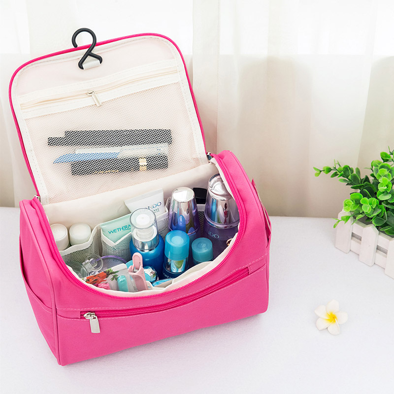 Fashion Women High Capacity Oxford Bag Travel Water-proof Cosmetic Bag Beauty Makeup Bags Washing Bags Makeup Bathroom Organizer