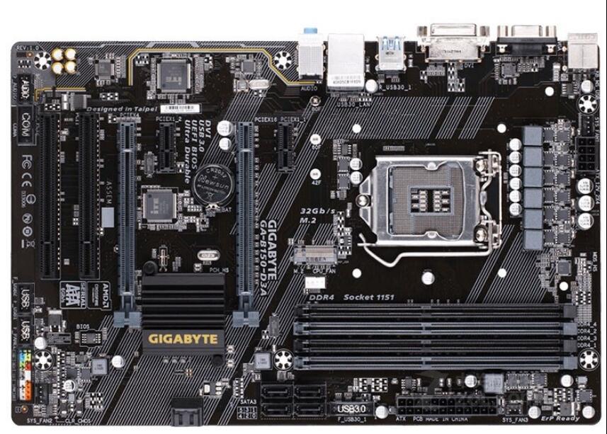 Gigabyte carte mère de bureau d'origine B150-D3A DDR4 Socket LGA 1151 carte mère Solide-état intégré
