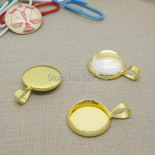 High quality 200pcs gold pendant blank with inner 20mm bezel setting high quality 200pcs gold pendant blank with inner 20mm bezel setting traybezel pendant settings aloadofball Gallery