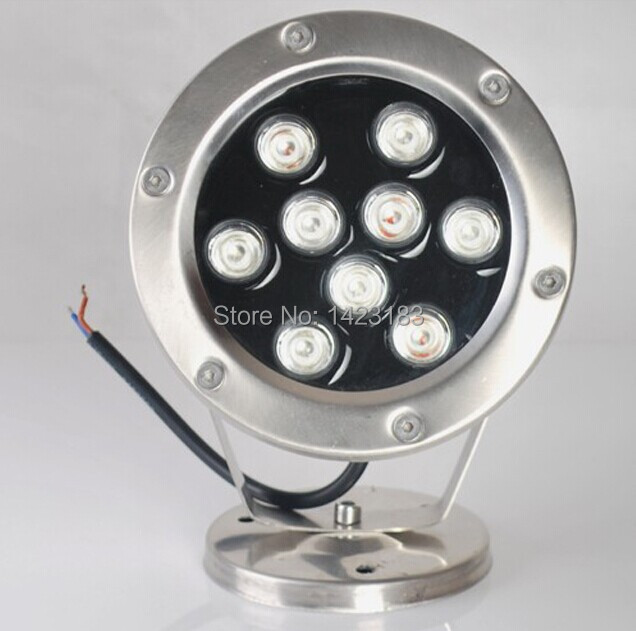 Free Shipping 2pcs per lot DC/AC 12v 9w LED underwater light lamp \ fountain lamp \ led pool light