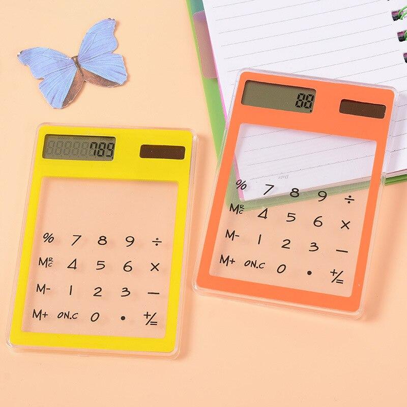ЖК-дисплей 8-значный Сенсорный экран тонкий кредитной карты дешевые солнечные Мощность карманный калькулятор новинка Малый путешествия ко...