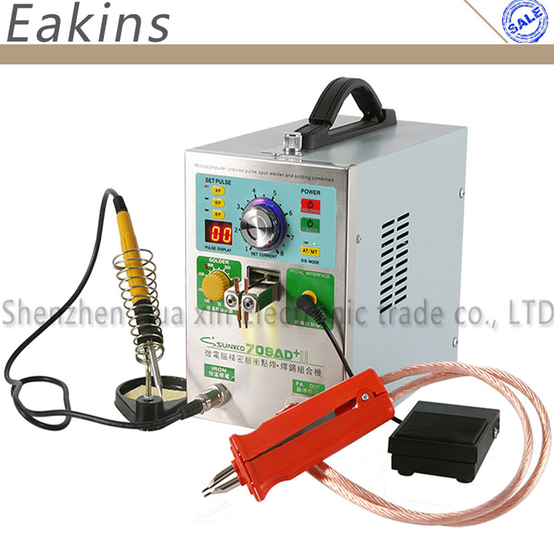 709AD+ 4 IN 1 Inductive Battery Spot Welding Soldering Machine Fixed Welding Head Moveable Welding Pen Pulse Spot Welder 220V high power 709ad battery spot welding machine pulse display automatic cooling system with soldering iron