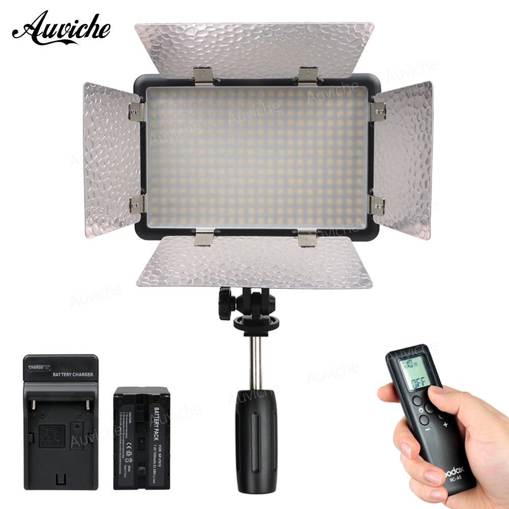 Godox LED308IIC 3200-5600K LED Video LED light Fill Light with F970 battery for DSLR Camera Camcorder DV for Wedding Interview hot sale dof hvr d160 5600k 160 leds bandoor filters ball mount led on camera video light for dv camcorder and dslr camera