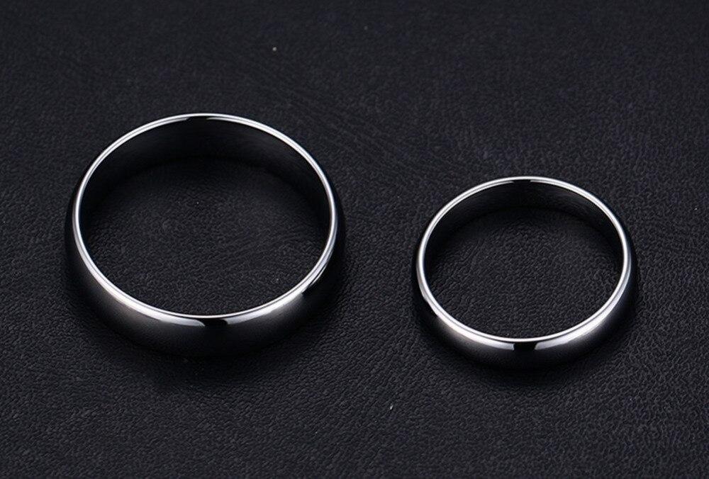 Купить высококачественные простые кольца из вольфрамовой стали серебряного