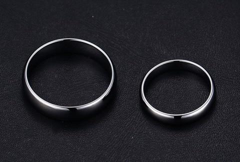 Высококачественные Простые Кольца из вольфрамовой стали серебряного