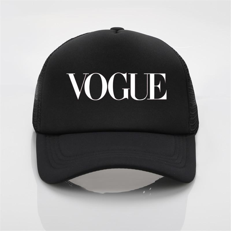 Moda Vogue impresión red gorra de béisbol hombres y mujeres verano ... 7cc9e277291