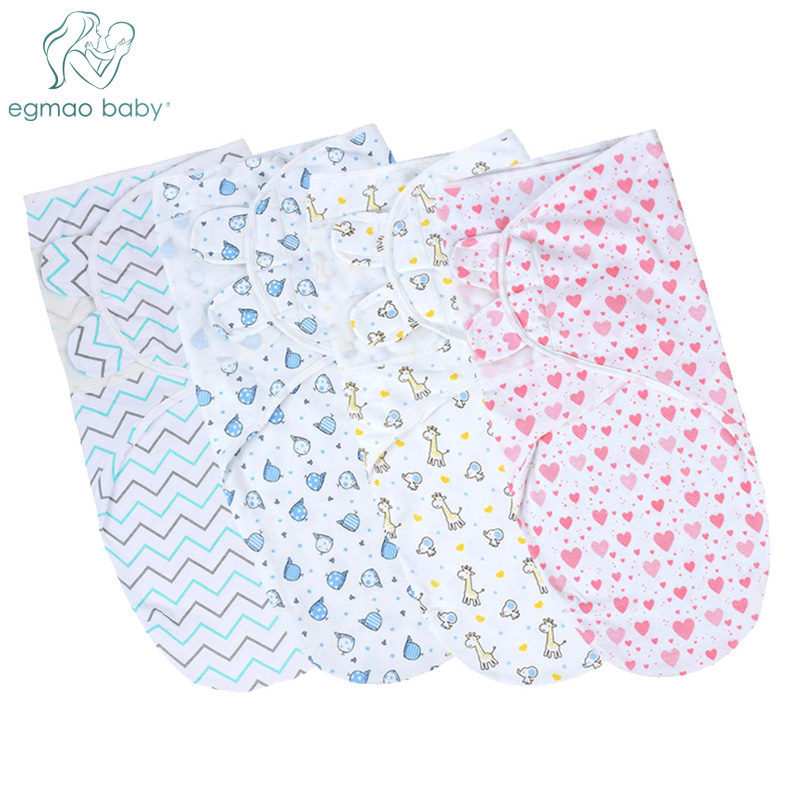 100% Organic Cotton Adjustable Infant Swaddles For Safe And Sound Sleep Newborn Infant Baby Wrap, Swaddle Blanket For 0-3 Month