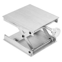 Aluminum Router Lift Table Woodworking Engraving Lab Lifting Stand (Silver)