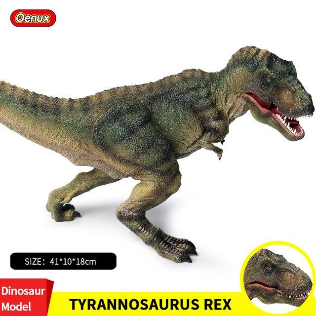 Prehistoric Oenux Carnívora Dinossauro Tiranossauro Rex Jurassic Dinossauros Grandes T-REX Rei Mundo Figuras de Ação Toy Kids Presente