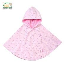 Floral Fleece Baby Cloak Oeko-tex 100 Certified 110cm Winter Outwear Baby Poncho Hooded Coat Girls Boys Children's Clothing
