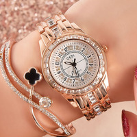 Fashion Watch Women Luxury Brand Diamond Designer Gold Dress Quartz Ladies Wrist Watches Female Clock Montre Femme Reloj Mujer