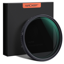 K&F CONCEPT 52/58/62/67/72/77/82mm Fader ND Filter Coated Neutral Density Variable Filter ND2-ND32 for Camera lens NO