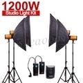 Pro godox 300sdi 1200ws 4*300 ws 300 w estroboscópico del estudio de fotos de luz con caja de soporte de luz suave 1200 w kit