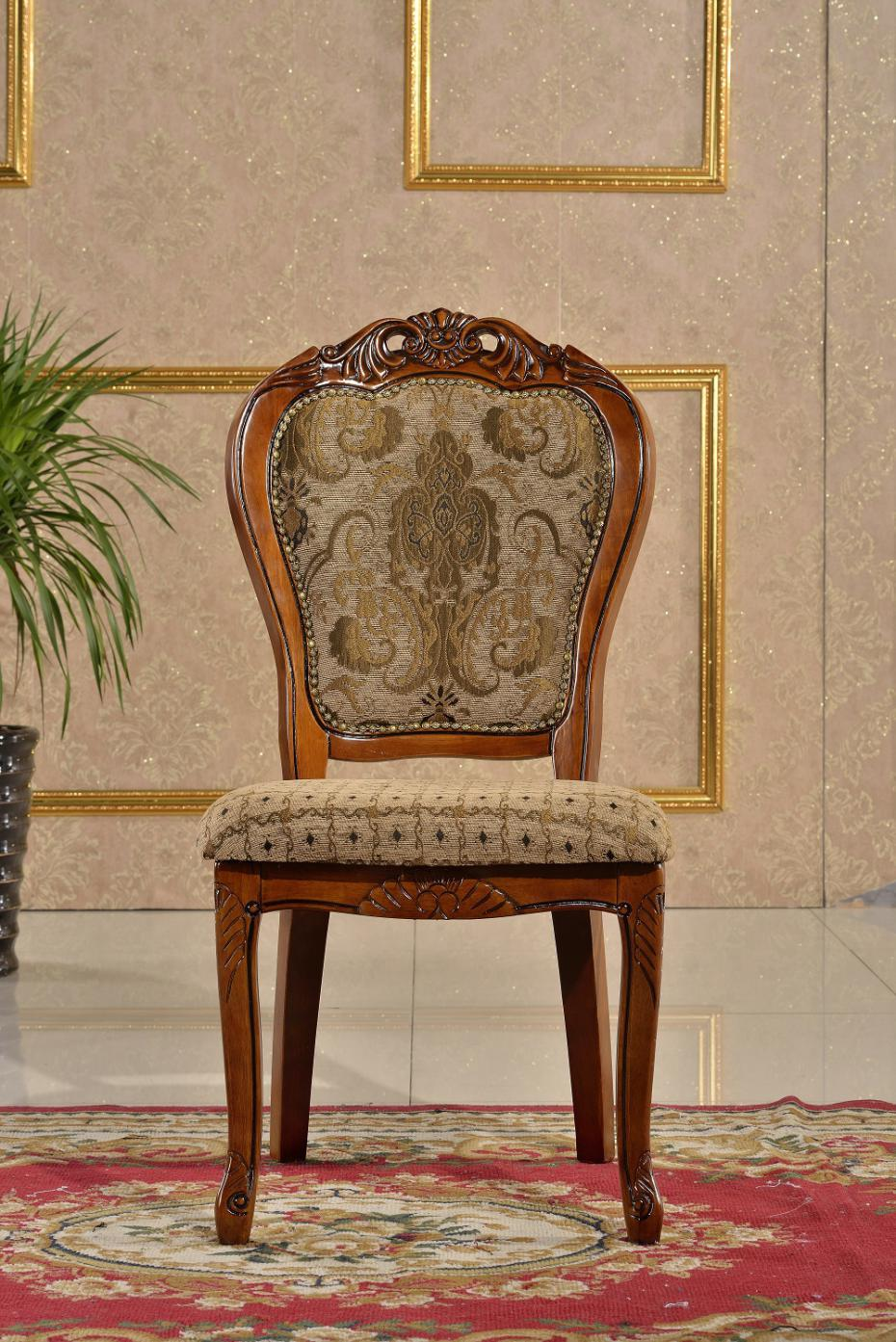 Old wooden chair styles - European Style Pattern Hotel Dining Chair Solid Wood Chair Carved Wood Chair Furniture Living Room