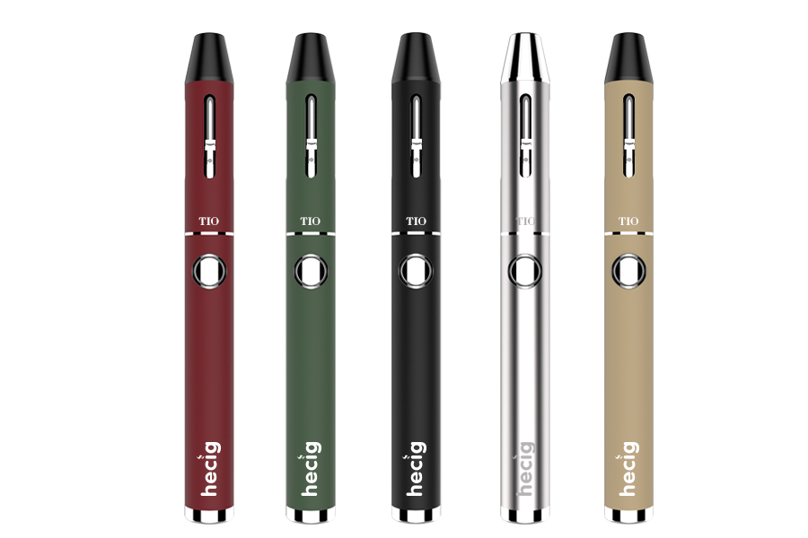 hecig Wax pen HEC TIO vaporizing electronic cigarette vape Kit Two-in-one vaporizer CBD Atomizer and Wax Atomizer