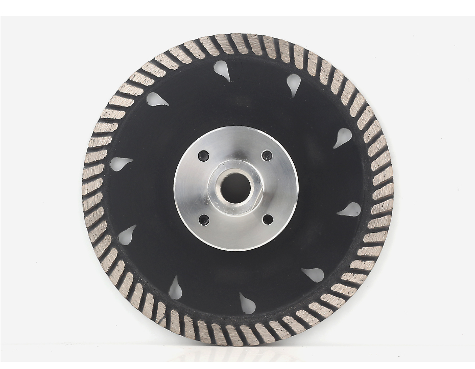 Diamond Grinding and Cutting Blades with Flange Tool Turbo Segmented Stone