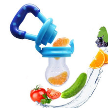 Baby Teether Toys Silicone Nipper Feeding Pacifier Toddler Baby Fresh Food Fruits Soup Feeder Newborn Teething Toys 0-12 months(China)