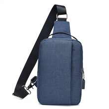 Male canvas sling chest bag small crossbody bags for men one shoulder messenger bag pack dropshipping 2018 boy usb bag