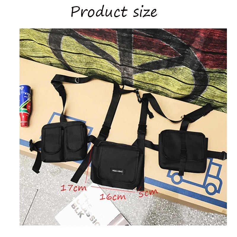 Bolso de hombro táctico para hombre, bolso de cintura táctico para hombre, bolsa de cintura para chico, ropa de calle, paquetes de cintura funcionales para hombre, bolsas de pecho Hip hop 030266