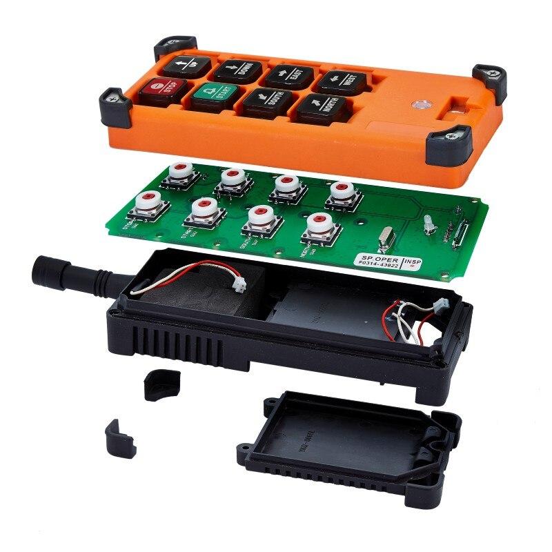Télécommande F21-E1Bremote distance de contrôle universelle industrielle belle commande sans fil pour grue AC/DC 2 transmetteur et 1 récepteur - 4
