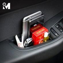Organizador do carro estilo automático maçaneta da porta pendurado titular caixa de armazenamento para audi a3 8v a4 b8 b9 a5 a6 c7 a7 q5 q7 acessórios interiores