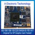 Placa Gráfica testado Original Para HP 600-1068 1088 G230 594506-001 REV: M17 1 GB Vídeo Placa de vídeo Funcionando Bem Classe AAA +