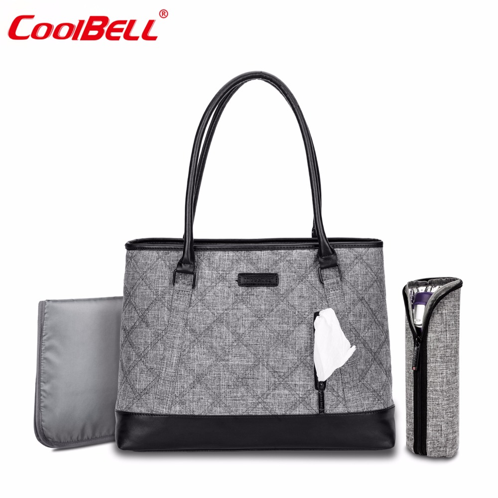 CoolBell Brand Maternity Mummy Bag Baby Diaper Tote Bag Multi-functional Shoulder Bag Leisure Baby Bag With Insulated Pockets f863 multi functional water resistant single shoulder dacron leisure bag blue