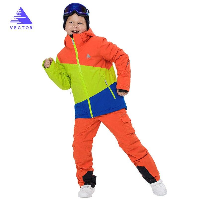 Enfants hiver Ski ensembles enfants neige costume manteaux Ski costume en plein air garçons Ski snowboard vêtements imperméable veste pantalon - 4