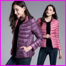 Winter Womens Two Side White Duck Down Jacket Warm Winter Coats Parkas Lightweight Down Jackets