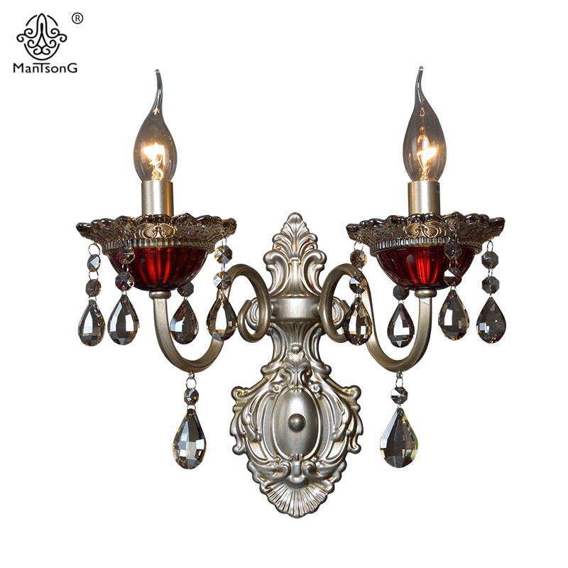 Vintage Luxury Crystal Wall Lamp Sconce for Living Room ...