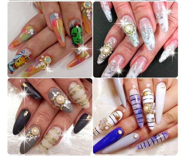 10pcs/lot 3D Colorful Pearl Designs Nail Art Decoration Crystal ...