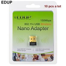 10 pcs USB MINI 802.11N 150mbps wireless wifi adapter 2.4G network card with retail box for Windows XP/Win7/win 10/Linux/Mac