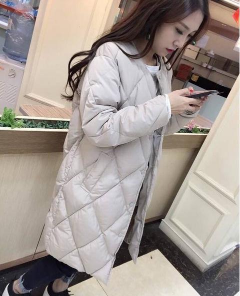 Algodão-acolchoado das mulheres Jaqueta de Inverno Para Baixo Médio-longo Casaco de Algodão Parkas Plus Size Feminina Slim Senhoras Jaquetas e Casacos