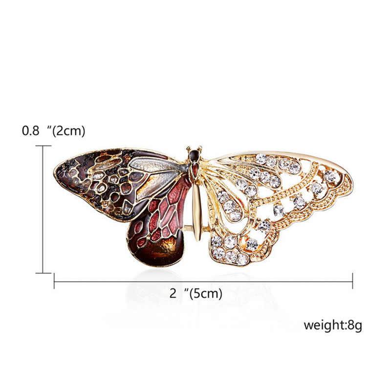 RE สวยผีเสื้อแมลงเข็มกลัดเข็มกลัดสัตว์เข็มกลัดสำหรับผู้หญิงเครื่องประดับตกแต่งอุปกรณ์เสริมสำหรับหญิงสาว O1735